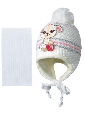 Шапка и шарф Kolad. Цвет: белый