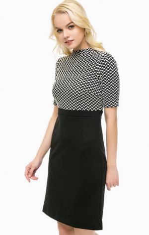Трикотажное платье с коротким рукавами MORE &. Цвет: черный