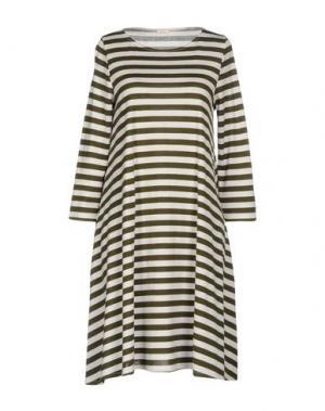 Короткое платье A.B APUNTOB. Цвет: зеленый-милитари