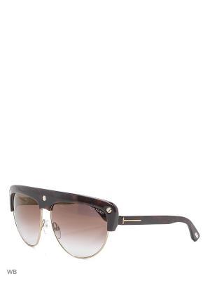 Солнцезащитные очки FT 0318 52G Tom Ford. Цвет: коричневый, серый