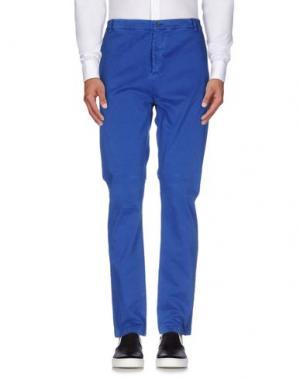 Повседневные брюки DANIELE ALESSANDRINI HOMME. Цвет: ярко-синий