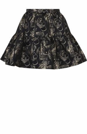 Мини-юбка с металлизированным принтом Kenzo. Цвет: разноцветный