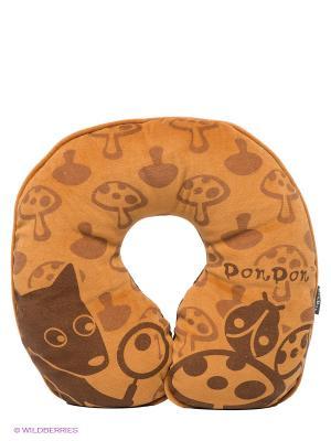 Подушка для шеи Pets@work. Цвет: коричневый