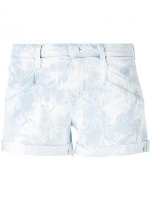 Джинсовые шорты тай-дай Paige. Цвет: синий