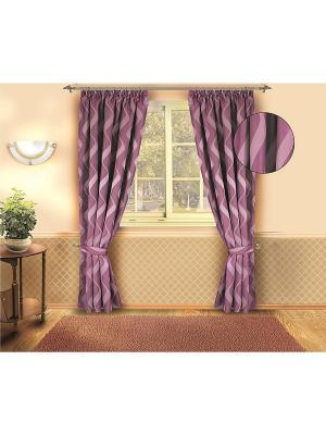 Комплект штор ZLATA KORUNKA. Цвет: сливовый