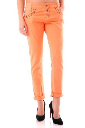 Брюки Cristina Gavioli. Цвет: оранжевый
