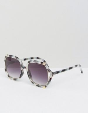 Somedays Солнцезащитные очки в винтажном стиле Lovin. Цвет: коричневый