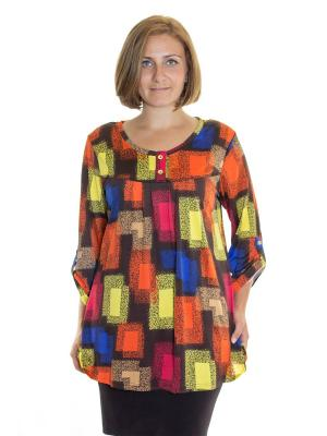 Туника Siman Fashion. Цвет: оранжевый