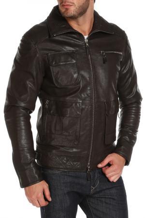Куртка Izeta. Цвет: темно-коричневый