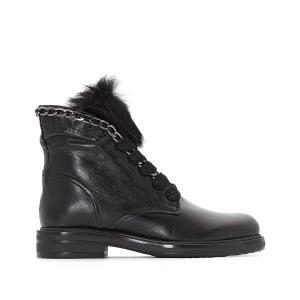Ботинки кожаные Cafe MJUS. Цвет: черный