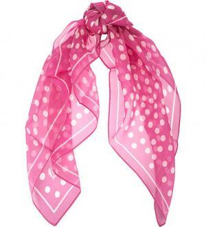 Шелковый платок в горошек FRAAS. Цвет: фуксия