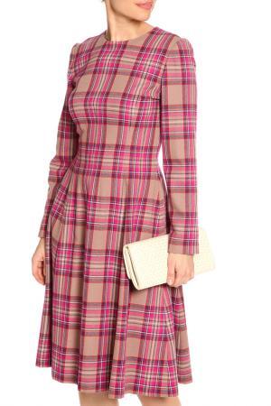 Платье миди NATALIA PICARIELLO. Цвет: розовый