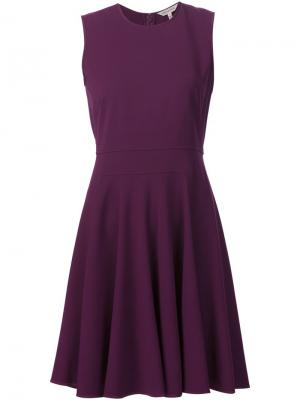 Расклешенное платье Rebecca Taylor. Цвет: розовый и фиолетовый