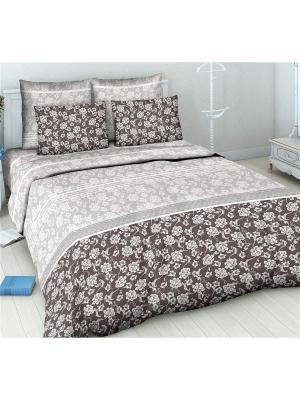 Комплект постельного белья Василиса. Цвет: коричневый, бежевый