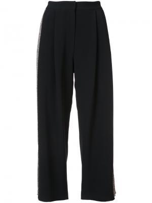 Укороченные брюки с полосками сбоку Adam Lippes. Цвет: чёрный