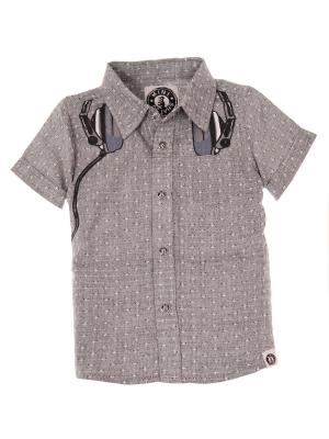 Рубашка Mini Shatsu. Цвет: коричневый