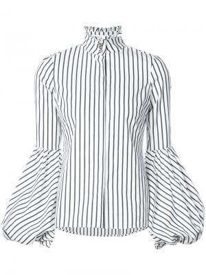 Рубашка в полоску Caroline Constas. Цвет: белый