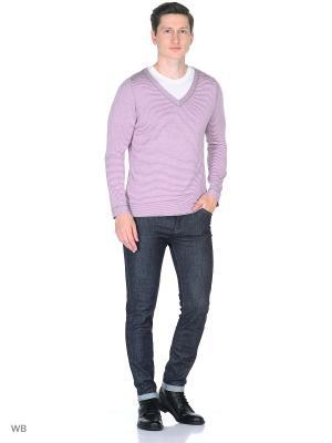 Пуловер GertmAn. Цвет: светло-серый, розовый