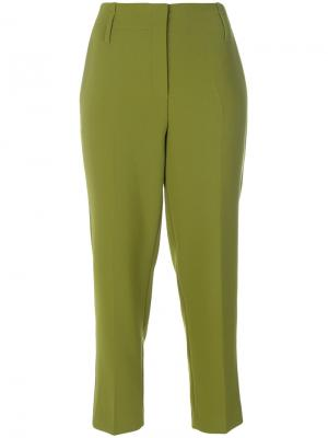 High waisted cropped trousers Luisa Cerano. Цвет: зелёный