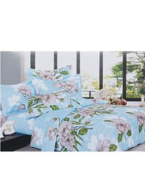 Комплект постельного белья 6 предметов HAMRAN. Цвет: морская волна, зеленый, розовый