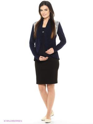 Жакет для беременных ФЭСТ. Цвет: темно-синий, белый
