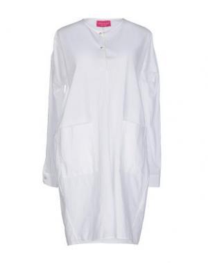 Короткое платье CARLO CONTRADA. Цвет: слоновая кость