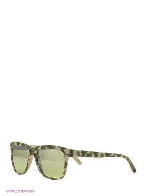 Солнцезащитные очки TOUCH. Цвет: хаки