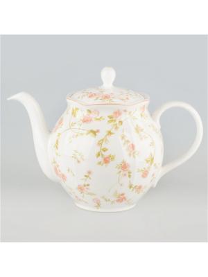 Чайник 1,5л Садовая Роза Quality Ceramic. Цвет: белый