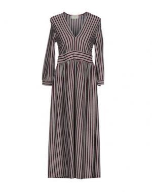 Платье длиной 3/4 VICOLO. Цвет: красно-коричневый