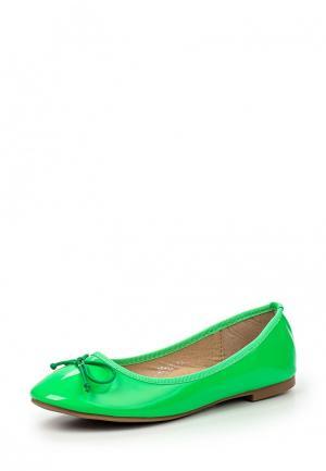 Балетки My&My. Цвет: зеленый