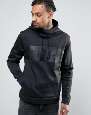 Jordan Nike Pullover Hoodie With Large Logo 831342-010. Цвет: черный