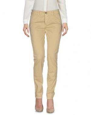 Повседневные брюки CARE LABEL. Цвет: бежевый