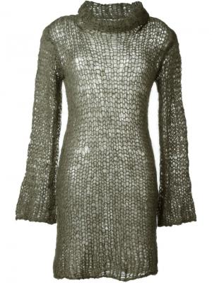 Платье рыхлой вязки Junya Watanabe Comme Des Garçons Vintage. Цвет: зелёный