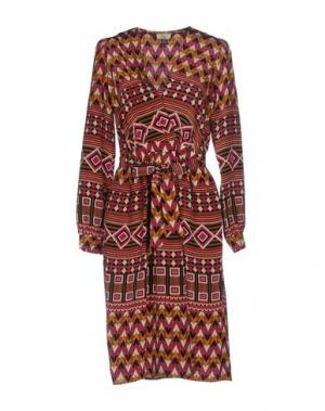 Платье до колена ISSA. Цвет: хаки