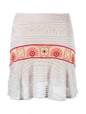 Crochet skirt Cecilia Prado. Цвет: телесный