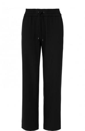 Укороченные брюки прямого кроя с лампасами Kenzo. Цвет: черный