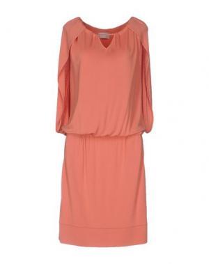 Платье до колена ROBERTA SCARPA. Цвет: лососево-розовый