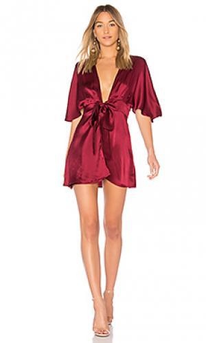 Платье с запахом the lane CAMI NYC. Цвет: красное вино