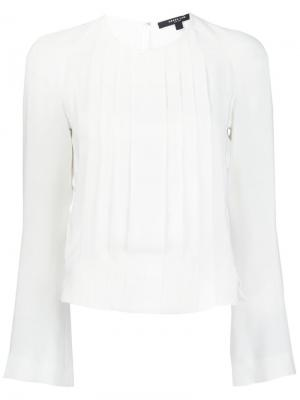 Блузка с плиссировкой спереди Derek Lam. Цвет: белый
