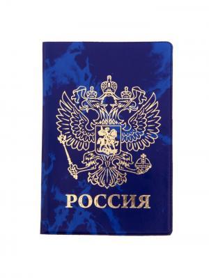 Обложка для паспорта Bizon. Цвет: синий