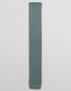MOSS BROS Трикотажный галстук London Wedding. Цвет: зеленый