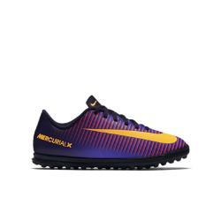 Футбольные бутсы для игры на газоне школьников  Jr. MercurialX Vortex III Nike. Цвет: пурпурный