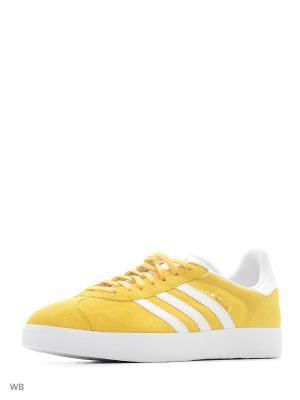 Кеды муж. GAZELLE  EQTYEL/WHITE/GOLDMT Adidas. Цвет: желтый, белый