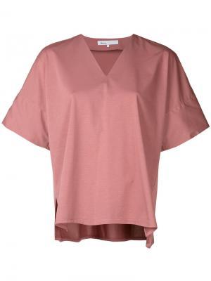 Топ-кимоно с V-образным вырезом 08Sircus. Цвет: розовый и фиолетовый