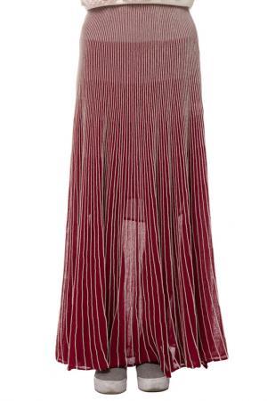 Юбка Gloss. Цвет: бордовый, бежевый