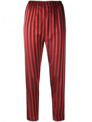 Полосатые брюки Forte. Цвет: красный