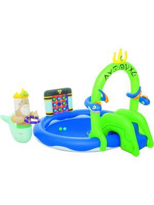 Бассейн с игрушками и шариками 231х193х150см от 2-х лет Bestway. Цвет: синий, зеленый