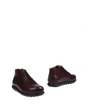 Полусапоги и высокие ботинки CAMPER. Цвет: баклажанный