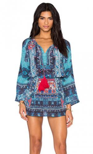 Мини платье HEMANT AND NANDITA. Цвет: синий