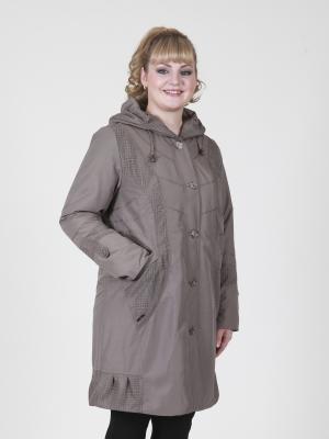 Пальто Млада VIKO. Цвет: светло-коричневый